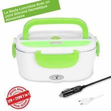 LUNCH BOX CHAUFFANTE Hermétique 12V 220V Qualité Alimentaire Acier INOX Sans BPA