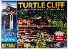 NEW Exo Terra Turtle Cliff Aquatic Terrarium Filter/Rock, Small FREE2DAYSHIP