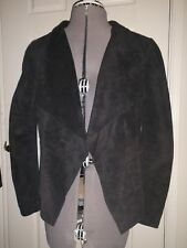 Bod christensen women's open-front short black leather jacket size small
