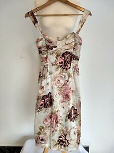 LK Bennett 100% Silk Midi Floral LK Bennett Dress Size 8 Summer Wedding Formal