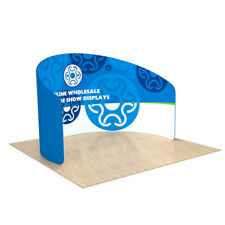 10ft C Shape Back Wall Fabric Tension Display Trade Show With Custom Printing