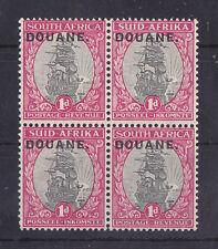 SOUTH AFRICA Mint NH 1d Block of 4 Stamps DOUANE OVP VF