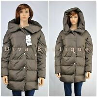 Zara Brown Hooded Down Puffer Coat AW 2019 RRP £99 Free P&P NEW With Tags