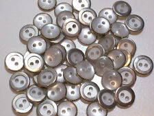 "Silver Buttons, White with Silver Edge Metal Buttons x 100 pieces 7/16"" (11 mm)"