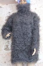 Sweater T neck Pullover Longhair 100% Goat Down Angora Cashmere UNISEX FETISH