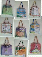 RECYCLED Rice Sack Messenger Bag Shopping Shoulder Tote Handmade Nepal Fairtrade