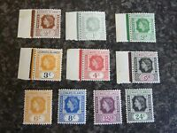 LEEWARD ISLANDS POSTAGE & REVENUE STAMPS SG126-135 UMM & LMM