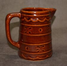 MARCREST  BROWN - DAISY AND DOT PATTERN creamer pitcher 50's