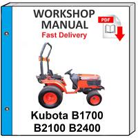 KUBOTA B1700 B2100 B2400 TRACTOR SERVICE REPAIR WORKSHOP MANUAL