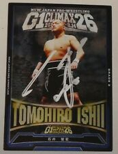 Tomohiro Ishii Signed 2016 New Japan Pro Wrestling Foil Card G1 Climax 26 Auto'd