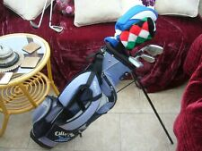 CALLAWAY XJ JUNIOR GRAPHITE GOLF SET AGE 9 TO 13 IRONS,PUTTER,WOODS BAG+ EXTRAS