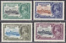 Turks and Caicos Islands 1935 KGV Silver Jubilee Set Mint SG187-190