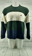 Tommy Hilfiger Vintage 100% Cotton Color Block Sweater Mens Size Medium VTG