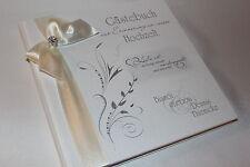 Hardcover Gästebuch zur Hochzeit , weiß mit elfenbein , ivory