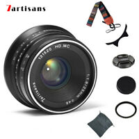 7artisans 25mm F/1.8 Lens For Fujifilm FX Mount X-Pro2 X-A1 A5 E1 T10 T2 Camera