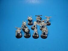 GW 2nd Ed Era Warhammer 40K Chaos Space Marines x10 OOP Metal Bodies
