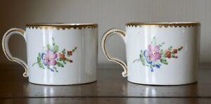 2 tasses porcelaine Vieux Paris Comte d'Artois vers 1780 époque Louis XVI 18ème