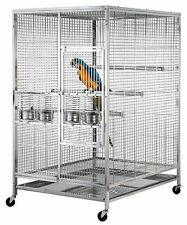 Large 304 Stainless Steel Parrot Macaw Bird Cage w/ Perch Indoor / Outdoor