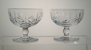 """CROSS and OLIVE ROYAL BRIERLEY Low Sherbets 3 1/4"""", PAIR, aka WINCHESTER"""