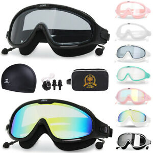 Adult Swimming Goggles Anti-Fog Glasses Scuba Diving Underwater UV Protection