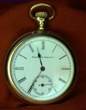 CIRCA 1919 ELGIN 16 OPEN FACE GOLD FILLED 20YR CASE  POCKET WATCH FULLY SERVICED