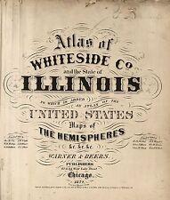 1872 Illinois State Atlas maps old Genealogy Dvd S18