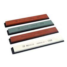 New listing Professional Whetstone Knife Sharpening Wet Stone 4 pc Set 120-1500 Grit Kitchen