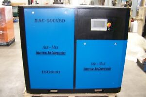 Air-Max  50 hp. Variable Speed Drive Rotary Screw Compressor 12 Year Warranty !!