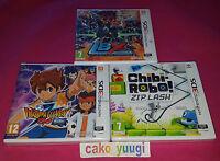 LOT 3 JEUX NINTENDO 3DS INAZUMA ELEVEN GO OMBRE + LBX + CHIBI ROBO! ZIP LASH