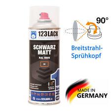 Schwarz Matt Profi Spraydose 123Lack Autolack Deko Lackspray 400ml