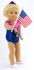 """NEW! Gymnastics Outfit for 18"""" American Girl Doll Clothes 6 Piece Set"""