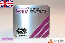 STI Aluminum sticker Badge decal Technica International for Subaru Wrx Wrc Sti