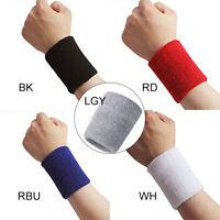 Women Men Terry Cloth Cotton Sweatband Sports Wrist Tennis Yoga Sweat WristBand