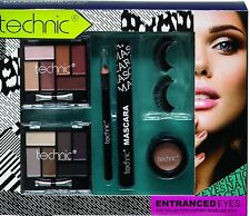 Technic Entranced Eyes Eye-shadows Eyelashes Mascara Makeup Kit Xmas Gift set