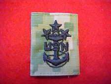 US Navy Type III Type 3 Green Digital  E-10 rank tab for parka - MCPON