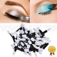 New 50pcs Eye Shadow Brush Sponge Double Ended Eyeshadow Brushes Make up Brush