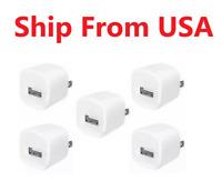 5x White 1A USB Power Adapter AC Home Wall Charger US Plug FOR iPhone Ipod