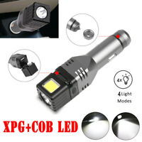 Powerful LED Flashlight Rechargeable Zoom 4 Modes Safety Hammer Torch Light