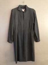 Genuine Grey Vintage Yves Saint Laurent  Rive Gauche Wool Dress Size 42