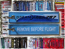 Keyring Dreamliner BOEING 787 in BLUE Remove Before Flight keychain Pilot Crew