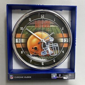 Cleveland Browns 12 Inch Chrome Clock by Wincraft Cleveland Browns Football Gear