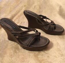 Tommy Hilfiger Sandals Women's 8.5M Brown Wedges