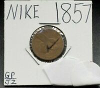 1857 Flying Eagle Indian Cent Penny Coin NIKE COUNTER STAMPED