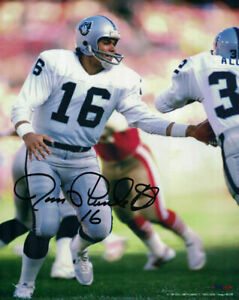 Jim Plunkett Autographed/Signed Oakland Raiders 8x10 Photo 15336