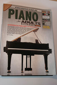 Progressive Piano for Adults, Peter Gelling , Excellent Condition Book CDS/DVDS