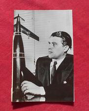 Wernher Von Braun  - Photo Article de Presse 1958   !