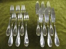 6 couverts à poisson métal argenté LXV (fish forks & knives) argental (bis)