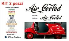 Kit Adesivi Air Cooled auto moto casco 2 pezzi Vintage decals Stickers Adesivo