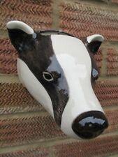 More details for quail ceramic badger  wall vase/planter new &boxed