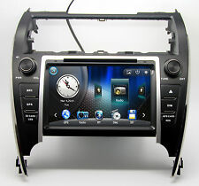 Indash Touch Screen Stereo Radio Car DVD Player GPS Navigation For Toyota Camry
